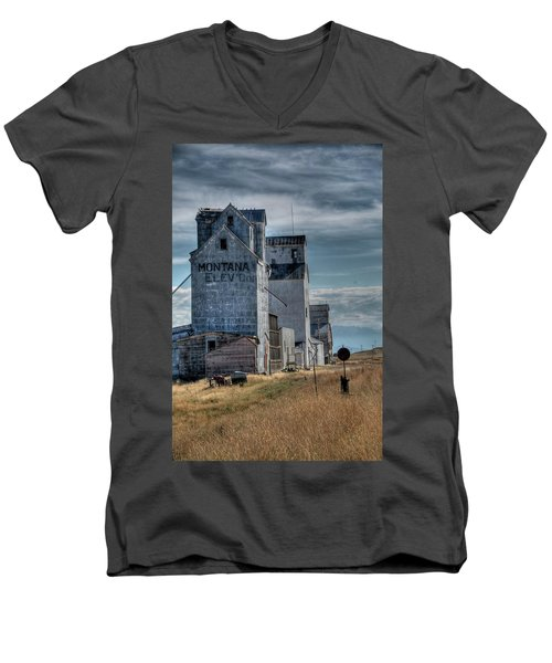 Grain Elevators, Wilsall Men's V-Neck T-Shirt
