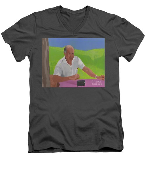 Grampa Wiegand Men's V-Neck T-Shirt