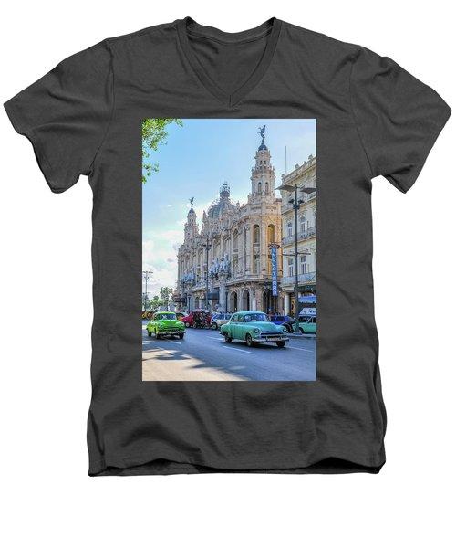 Gran Teatro De La Habana Men's V-Neck T-Shirt
