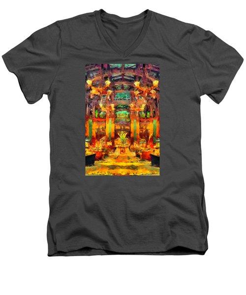 Grand Californian Resort Lobby Men's V-Neck T-Shirt