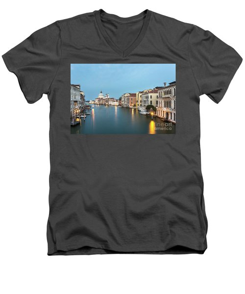 Grand Canal In Venice, Italy Men's V-Neck T-Shirt