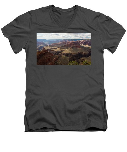 Men's V-Neck T-Shirt featuring the photograph Grand Canyon by Jennifer Ancker