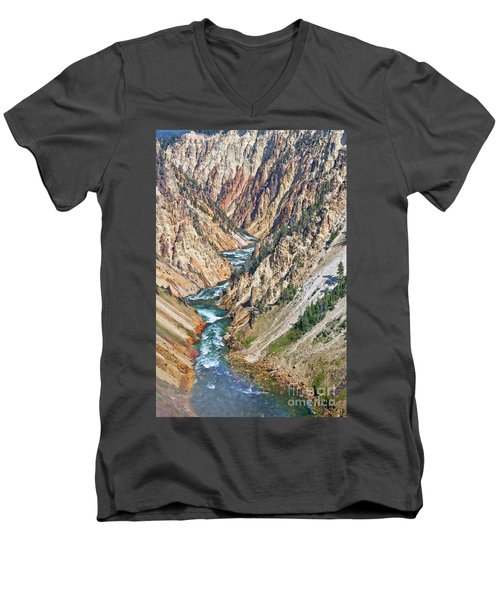 Grand Canyon Of Yellowstone Men's V-Neck T-Shirt