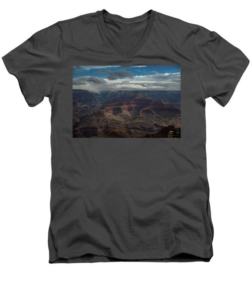 Men's V-Neck T-Shirt featuring the photograph Grand Canyon by Phil Abrams