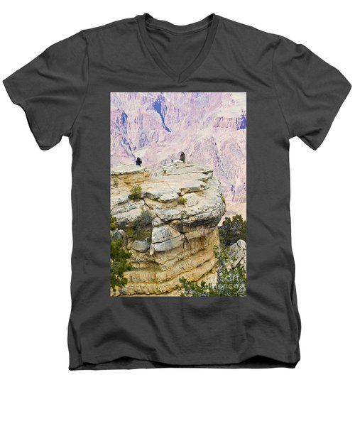 Men's V-Neck T-Shirt featuring the photograph Grand Canyon Photo Op by Chris Dutton