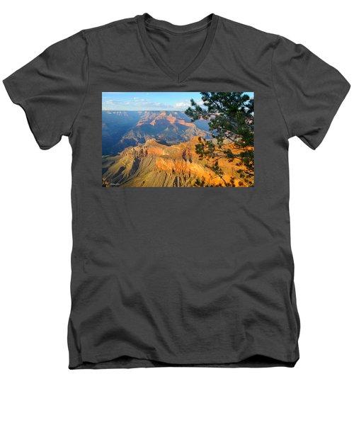 Grand Canyon South Rim - Pine At Right Men's V-Neck T-Shirt