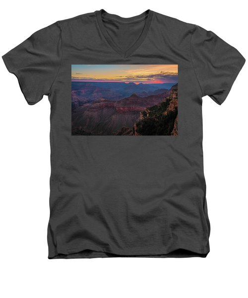 Grand Canyon Sunrise Men's V-Neck T-Shirt
