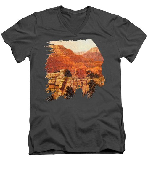 Grand Canyon Sunset Men's V-Neck T-Shirt