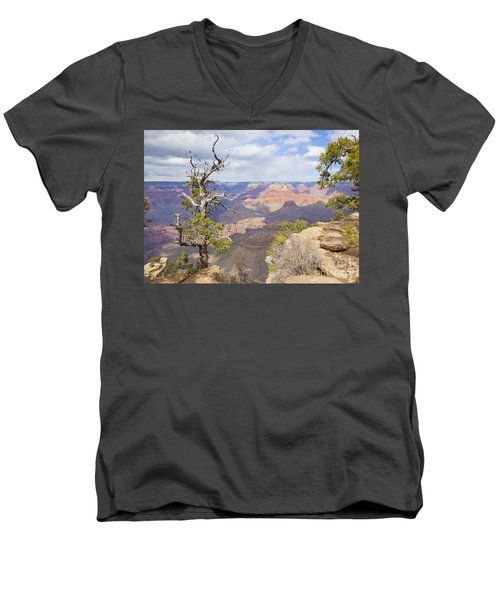 Men's V-Neck T-Shirt featuring the photograph Grand Canyon View by Chris Dutton