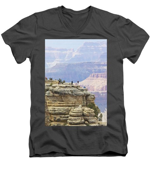 Men's V-Neck T-Shirt featuring the photograph Grand Canyon Vista by Chris Dutton