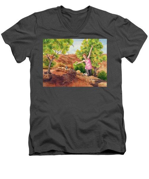 Grand Leap Men's V-Neck T-Shirt