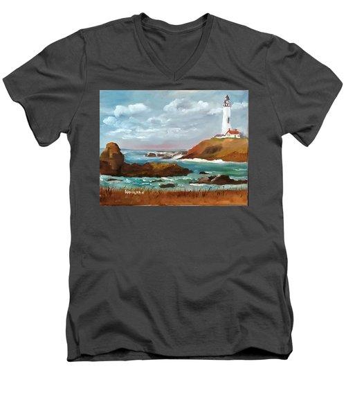 Grand Lighthouse Men's V-Neck T-Shirt