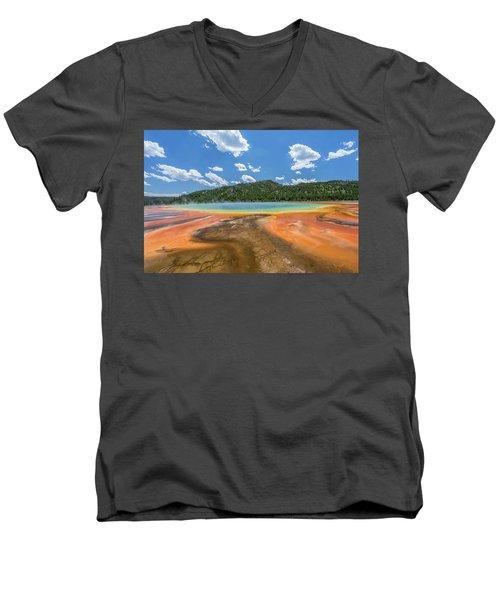Grand Prismatic Men's V-Neck T-Shirt by Alpha Wanderlust