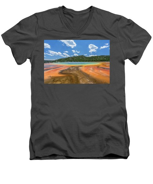 Grand Prismatic Men's V-Neck T-Shirt