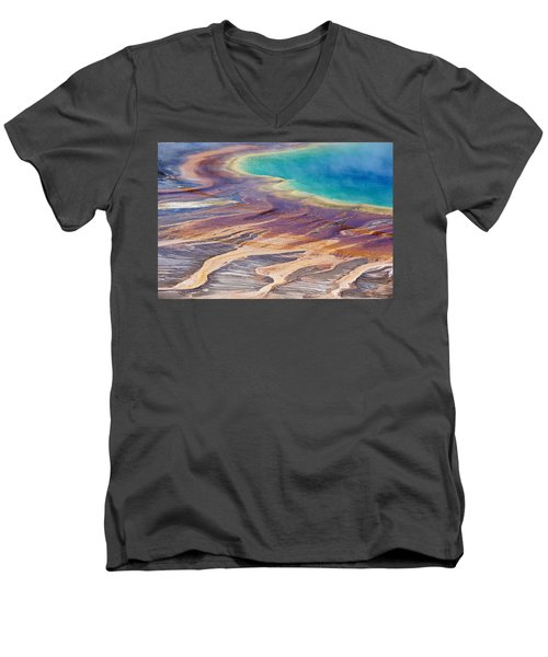 Grand Prismatic Spring 2 Men's V-Neck T-Shirt
