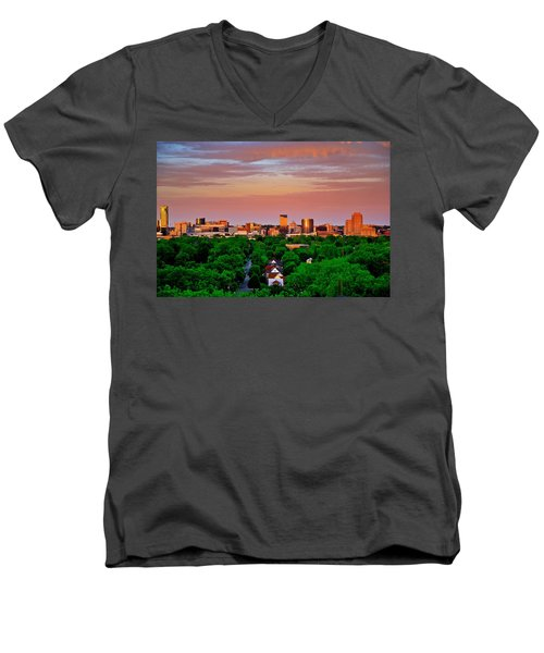 Grand Rapids Mi- 10 The Art Prize Men's V-Neck T-Shirt
