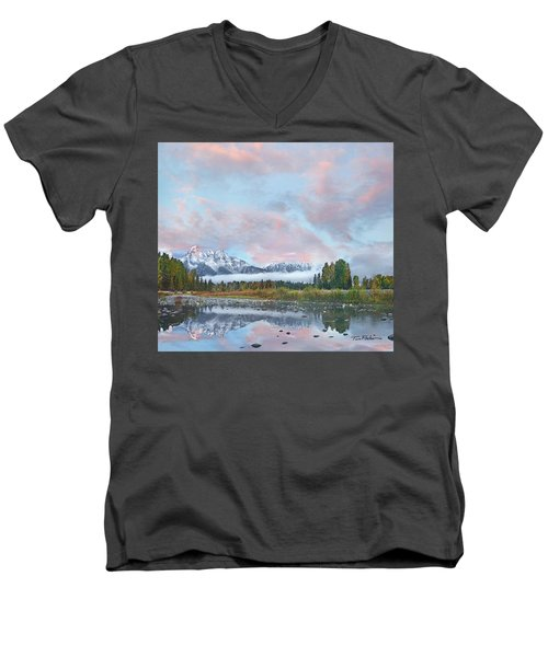 Grand Teton National Park, Wyoming Men's V-Neck T-Shirt