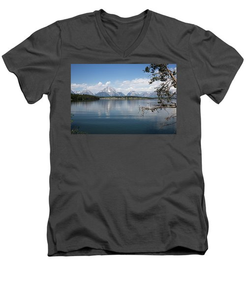 Grand Teton Range Men's V-Neck T-Shirt