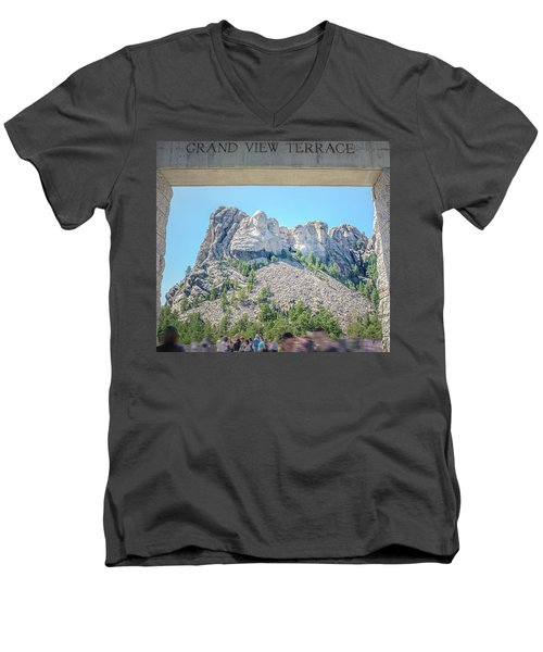 Grand View Men's V-Neck T-Shirt by Mark Dunton
