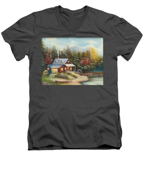 Grandpa's Cabin Men's V-Neck T-Shirt