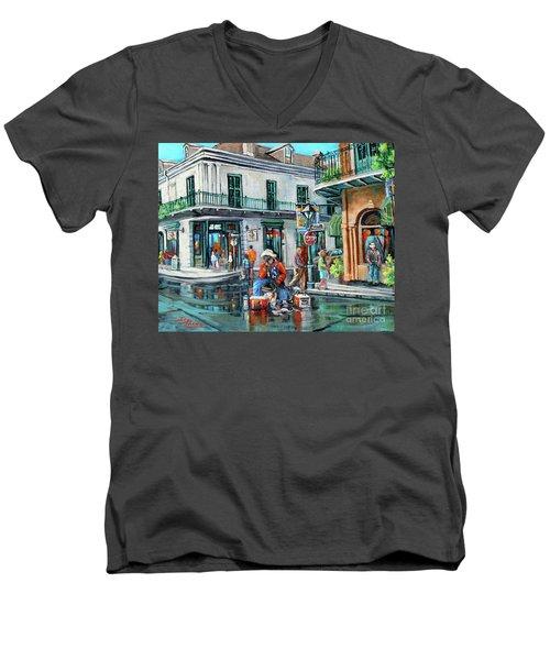 Grandpas Corner Men's V-Neck T-Shirt