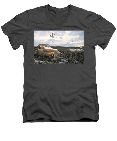 Grandpa's Old Truck Men's V-Neck T-Shirt