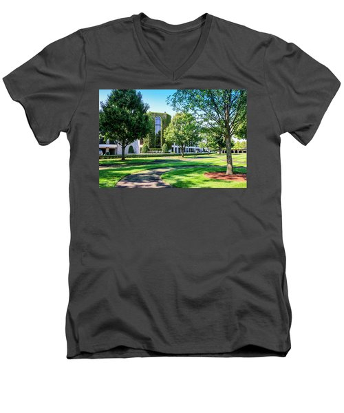 Grandstand At Keeneland Ky Men's V-Neck T-Shirt by Chris Smith