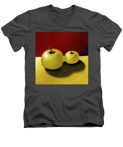 Granny Smith Apples Men's V-Neck T-Shirt