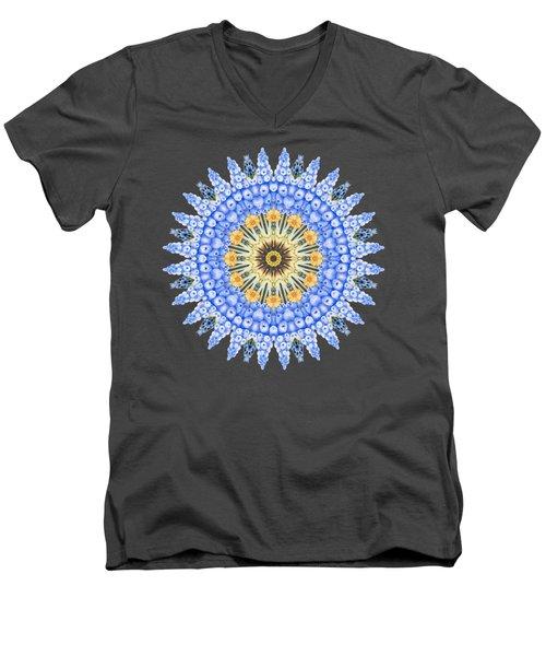 Grape Hyacinth Mandala Men's V-Neck T-Shirt