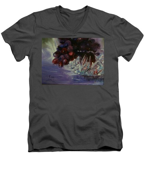 Grapes And Glass Men's V-Neck T-Shirt