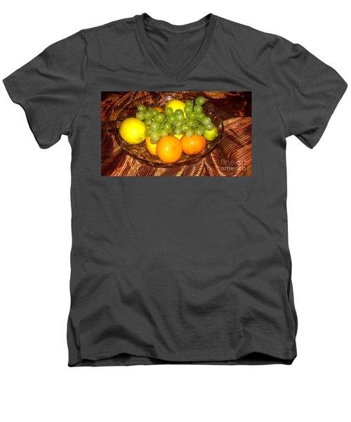 Grapes, Lemons, Mandarins And Lime  Men's V-Neck T-Shirt