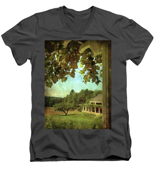Grapes On Arbor  Men's V-Neck T-Shirt