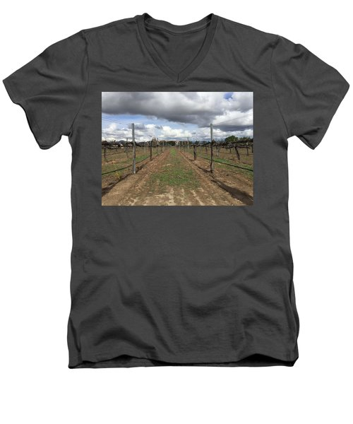 Grapevine Men's V-Neck T-Shirt by Russell Keating