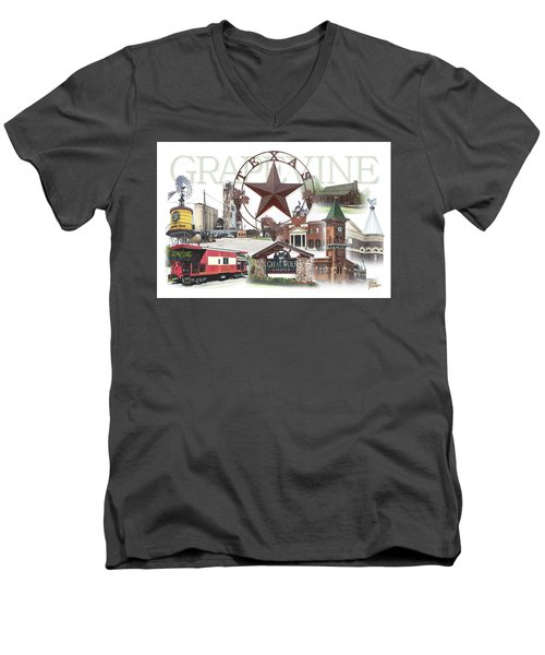 Grapevine Texas Men's V-Neck T-Shirt by Doug Kreuger