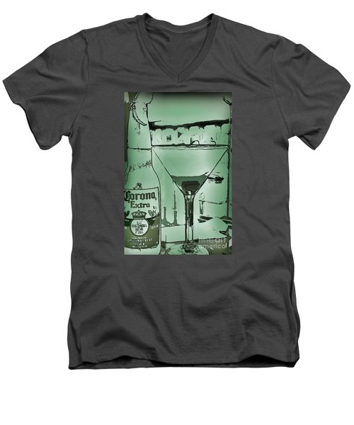 Men's V-Neck T-Shirt featuring the photograph Graphic Refreshments by Pamela Blizzard