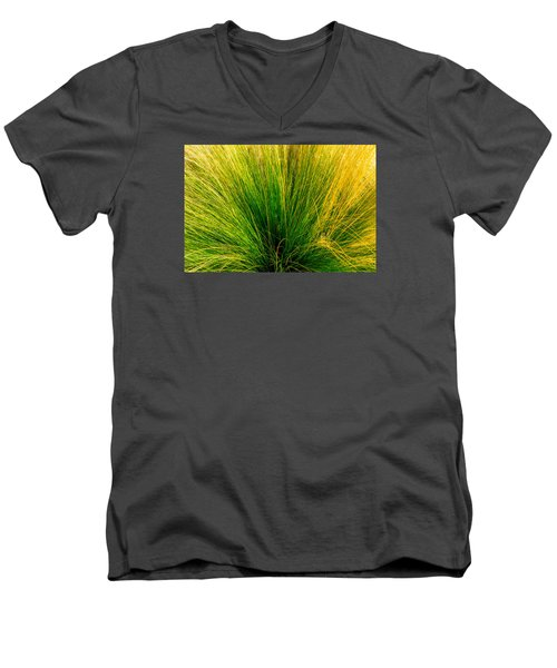 Grass Men's V-Neck T-Shirt by Derek Dean