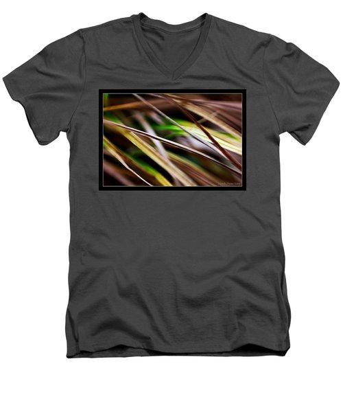 Men's V-Neck T-Shirt featuring the photograph Grass by Michaela Preston