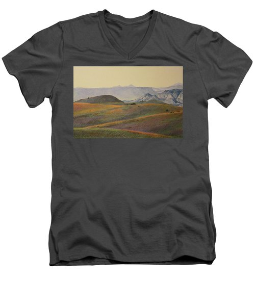 Grasslands Badlands Panel 2 Men's V-Neck T-Shirt