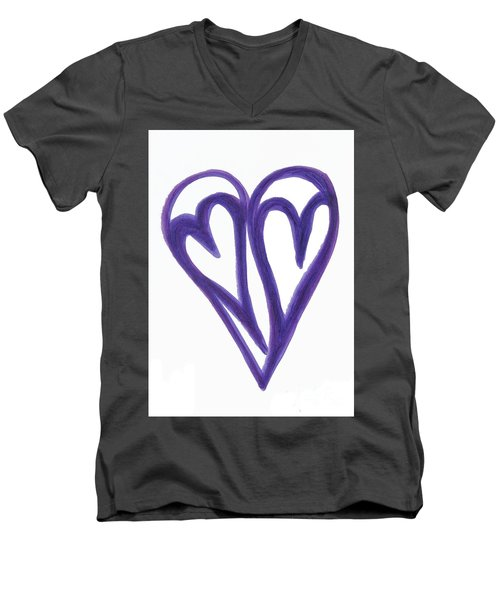 Grateful Heart Thoughtful Heart Men's V-Neck T-Shirt
