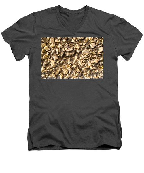 Gravel Stones On A Wall Men's V-Neck T-Shirt
