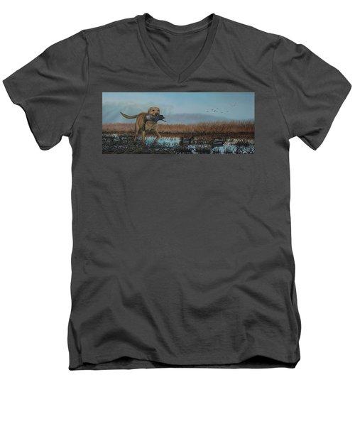 Gray Day Mallards Men's V-Neck T-Shirt