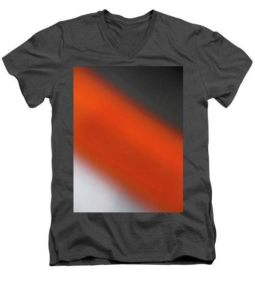 Gray Orange Grey Men's V-Neck T-Shirt