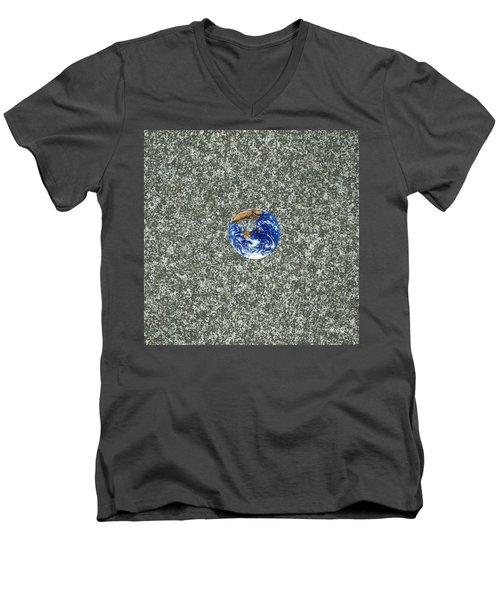 Gray Space Men's V-Neck T-Shirt