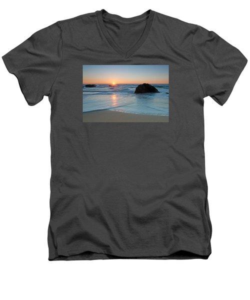 Gray Whale Cove State Beach 2 Men's V-Neck T-Shirt