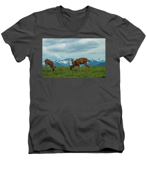 Grazing In The Clouds Men's V-Neck T-Shirt