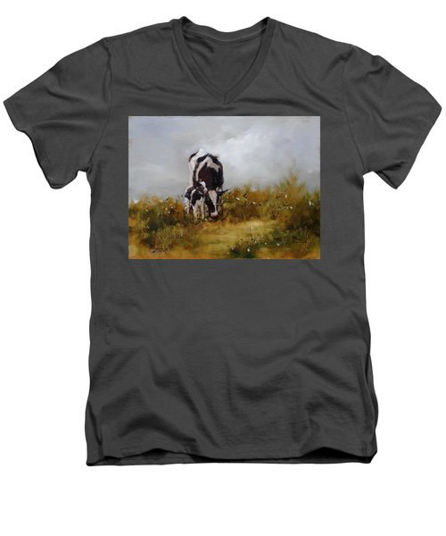 Grazing With Mom Men's V-Neck T-Shirt