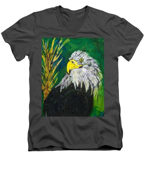 Great Bald Eagle Men's V-Neck T-Shirt