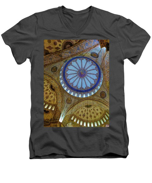 Great Blue Dome Men's V-Neck T-Shirt