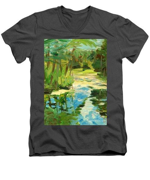 Great Brook Farm Canoe Launch Men's V-Neck T-Shirt