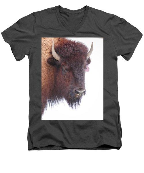 Great Buffalo Men's V-Neck T-Shirt